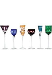 Jogo Taças De Cristal Para Licor - Coloridas Wolff 150Ml (6 Peças) - Tricae