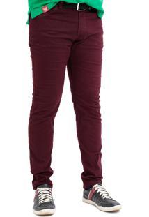 Calça Jeans Com Lycra Mania Do Jeans Vinho