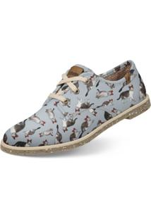 Oxford Usthemp Legend Vegano Casual Estampa Nina Fancy Cinza