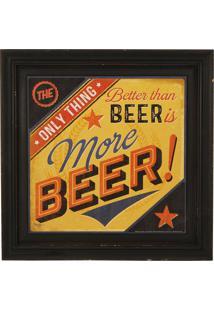 Quadro Decorativo Vintage Com Moldura More Beer