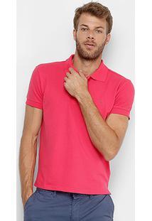 Camisa Polo Gangster Piquet Elastano Masculina - Masculino-Rosa Escuro