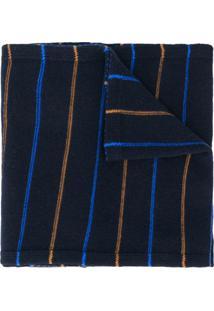 Pringle Of Scotland Echarpe Slim Com Listras - Azul