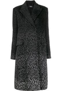 Karl Lagerfeld Casaco Karl X Carine Com Estampa De Leopardo - Cinza