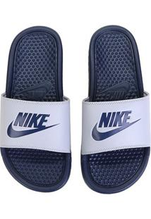 Sandália Nike Benassi Jdi Masculina - Masculino-Cinza+Marinho
