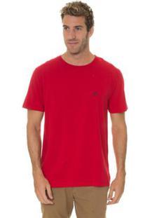 Camiseta Timberland Dunstan Rv Crew Masculina - Masculino-Vermelho