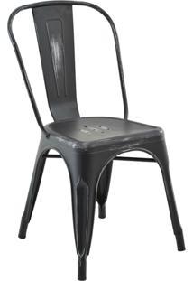 Cadeira Iron Sem Braço Vintage Preto Rivatti Móveis