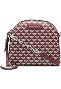 Emporio Armani Logo Print Shoulder Bag - Vermelho