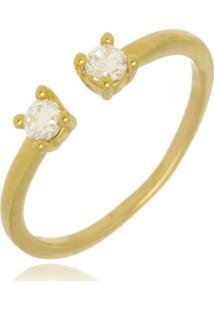 Anel Falange Pontinhos De Luz Di Capri Semi Jóias X Ouro Dourado - Tricae