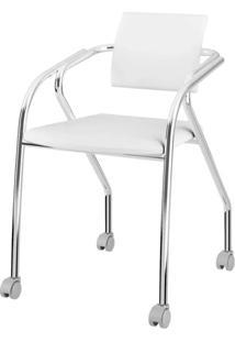 Cadeira 1713 Cromado Com Napa Branca