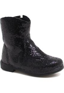 Bota Ankle Boot Zariff Shoes Glitter