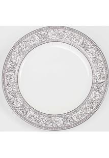 Prato Para Sobremesa Porcelana Schmidt - Dec. Kate