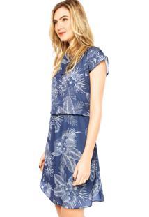 6603d3eb5f82 R$ 119,99. Dafiti Vestido Curto Estampado Malwee Azul