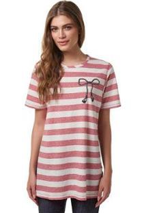 Blusa Vestido Estampado Hering - À La Garçonne - Feminino-Rosa