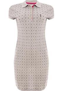 Vestido Aleatory Mini Print Strong Feminino - Feminino-Cinza