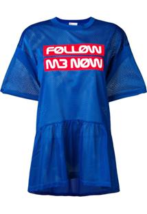 Red Valentino Top 'Follow Me Now' - Azul