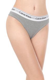 Calcinha Calvin Klein Underwear Tanga Modern Cinza