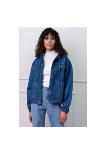 Jaqueta Sisal Jeans Parka Azul