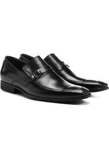 Sapato Social Couro Shoestock Metal - Masculino-Preto