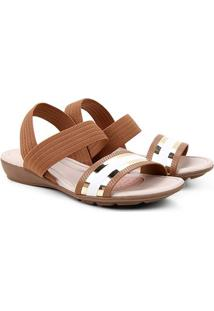 Sandália Modare Bicolor Feminina - Feminino-Caramelo