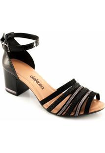 Sandalia Salto Grosso Dakota Z2662 - Feminino-Preto