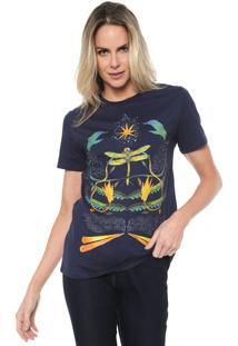 Camiseta Lez A Lez Pérolas Azul-Marinho