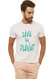 Camiseta Joss - Save The Planet - Masculina - Masculino-Branco