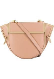 Wandler Oversized Stitch Shoulder Bag - Rosa