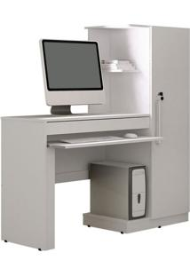 Mesa Para Computador Office 1Pt 1 Gv Branco Ártico