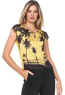 Blusa Cativa Estampada Amarela