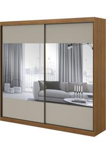 Guarda-Roupa Royal Com Espelho - 2 Portas - Rovere Naturale Com Offwhite
