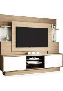 Estante Para Tv De Até 55 Polegadas, Avelã Com Off White, Belize Wood Ii