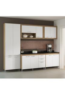 Cozinha Compacta Gualeguay 12 Pt 3 Gv Argila, Branco E Preto
