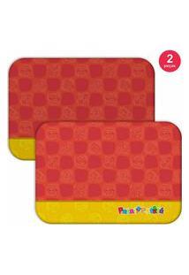 Jogo Americano Turma Patati Patatá Vermelho - Produto Licenciado Kit Com 2 Pçs