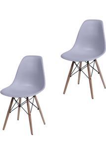 Kit Com 2 Cadeiras Eames Dkr - Or-1102-B - Cinza