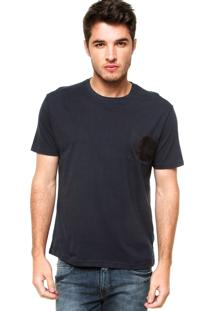 Camiseta Manga Curta Calvin Klein Jeans Bolso Azul-Marinho