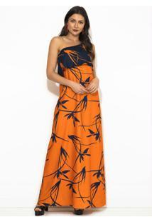 Vestido Estampa Flor Do Deserto Laranja