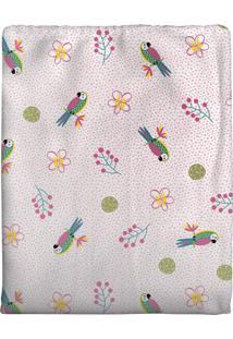 Cobertor Em Algodão Para Bebê Arara Rosa 70 X 90Cm Rosa - Kanui
