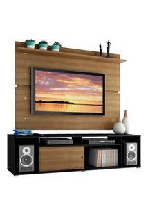 Rack Madesa Cancun E Painel Para Tv Até 65 Polegadas - Preto/Rustic/Rustic Preto