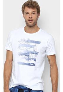 Camiseta Forum Bússola Masculina - Masculino-Branco