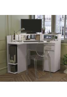 Mesa Para Computador Home Urban 1 Porta 1 Gaveta S975 Branco - Kappesberg