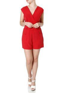 f1b992958 Macacão Curto Vermelho feminino