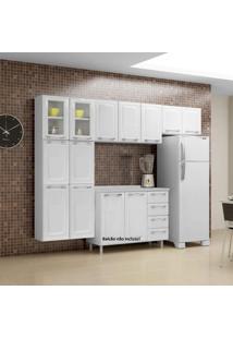 Cozinha Compacta 3 Peças 11 Portas 2 De Vidro Criativa Itatiaia Branco