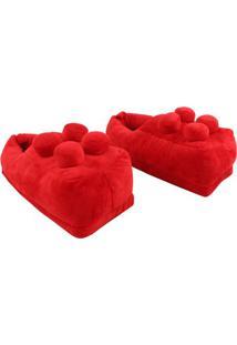 Pantufa Lego Vermelha - Zona Criativa