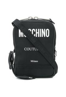 Moschino Convertible Canvas Messenger Bag - Preto