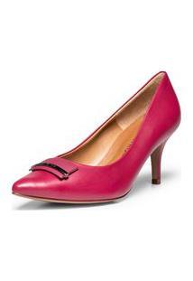 Scarpin Salto Medio Metal Personalizado Rosa