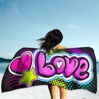 8f876085e3 Toalha De Praia   Banho Love