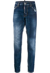 Dsquared2 Calça Jeans Com Efeito Desbotado - Azul
