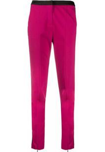 Karl Lagerfeld Calça Punto Com Logo - Rosa