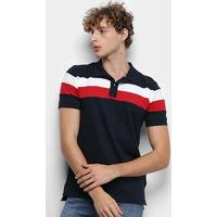 9024dea90 Camisa Polo Tommy Hilfiger Chest Stripe Slim Masculina - Masculino-Branco+ Vermelho