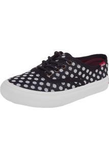 Tênis Cola-Cola Shoes Kick Poa Preto/Branco